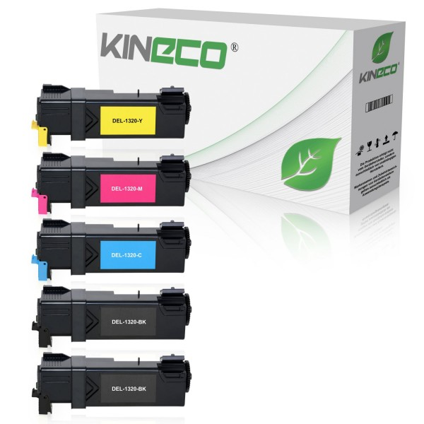 5 Toner kompatibel zu Dell 1320 XL