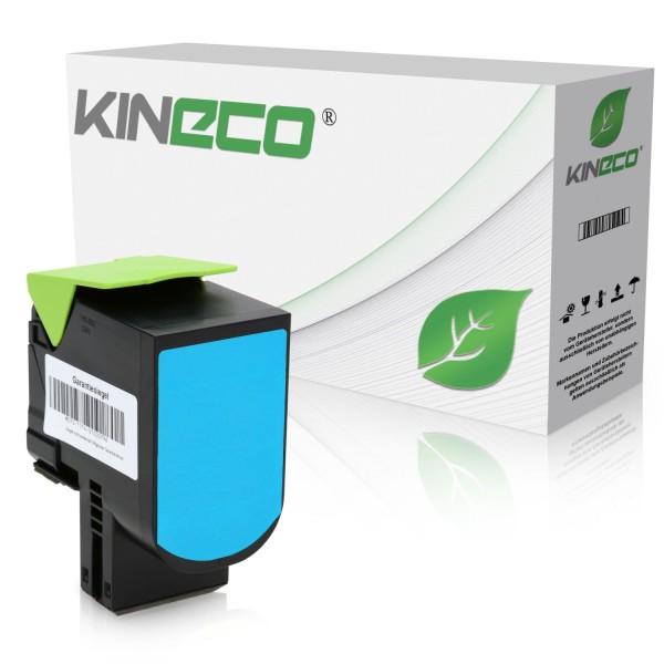 Toner kompatibel zu Lexmark CX510 800X2 80C0X20 XL Cyan