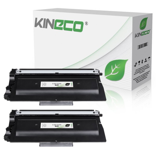 2 Toner kompatibel zu Brother TN-3380 XL Schwarz