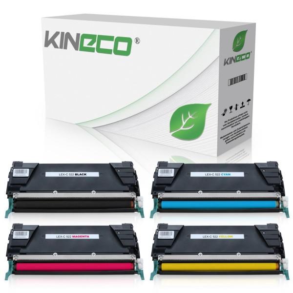 4 Toner kompatibel zu Lexmark C520 C522 C530 XL