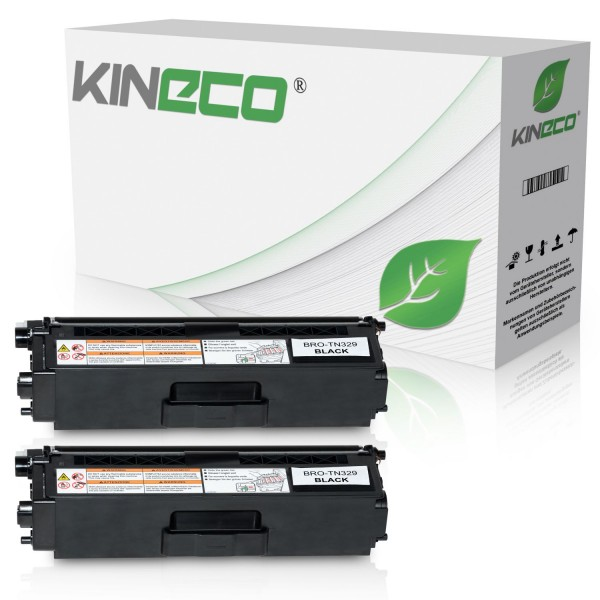 2 Toner kompatibel zu Brother TN-329BK XL Schwarz