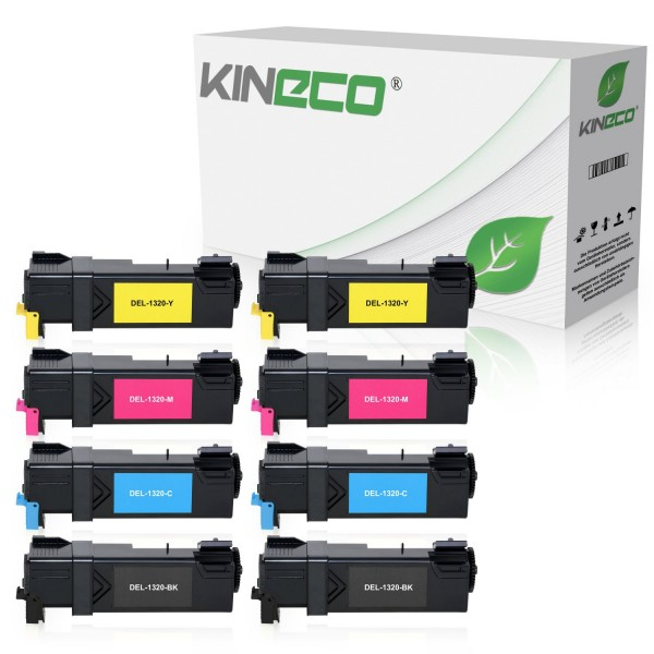 8 Toner kompatibel zu Dell 1320 XL