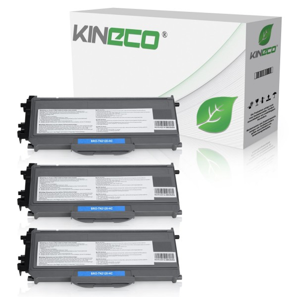 3 Toner kompatibel zu Brother TN-2120 XL Schwarz