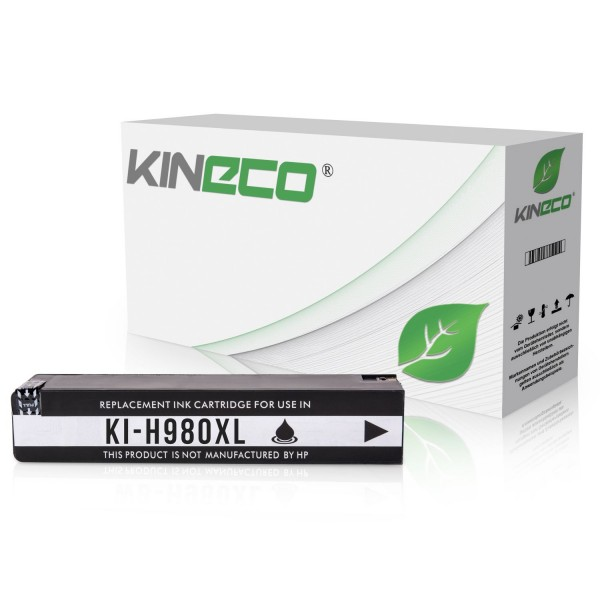 Tintenpatrone kompatibel zu HP 980 D8J10A XL Schwarz