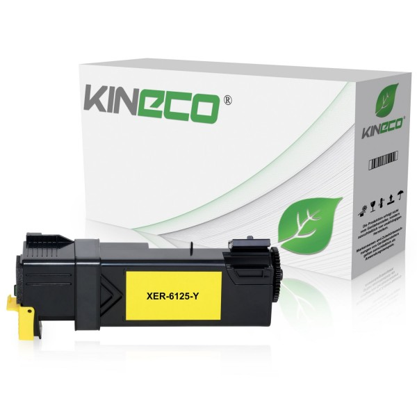 Toner kompatibel zu Xerox Phaser 6125 106R01333 XL Yellow