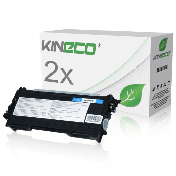 2 Toner kompatibel zu Brother TN-2005 XL Schwarz