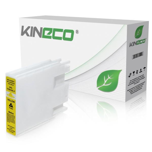 Tintenpatrone kompatibel zu Epson Stylus WF8000 T7554 C13T755440 XL Yellow
