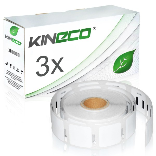 3x Etiketten kompatibel zu Dymo S0929120, 25mm x 25mm