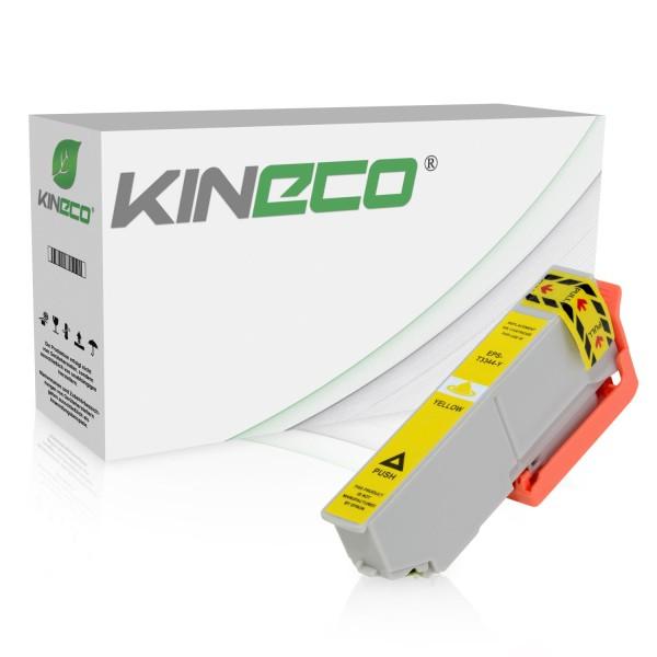 Tintenpatrone kompatibel zu Epson Stylus XP530 33 C13T33444010 XL Yellow