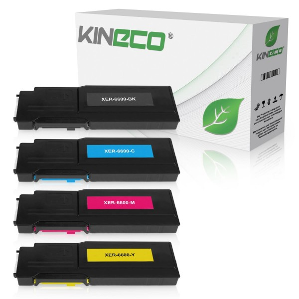 4 Toner kompatibel zu Xerox 6600 XL