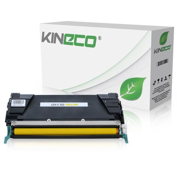 Toner kompatibel zu Lexmark C520 C522 C530 C5222YS XL Yellow