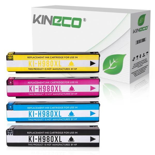 4 Tintenpatronen kompatibel zu HP 980 XL