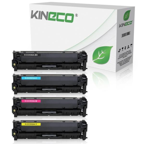 4 Toner kompatibel zu HP CC530A-CC533A XL