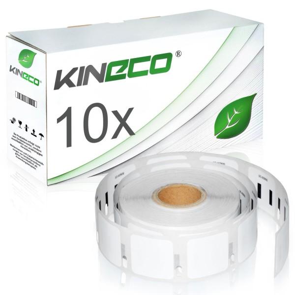 10x Etiketten kompatibel zu Dymo S0929120, 25mm x 25mm