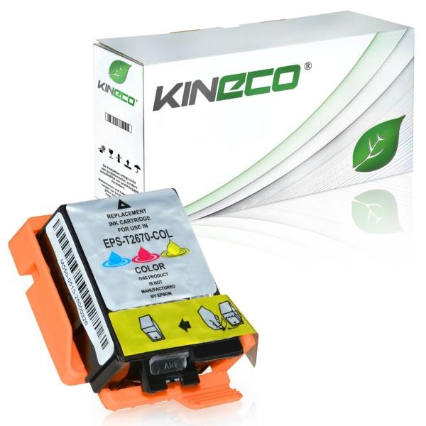 Tintenpatrone kompatibel zu Epson Stylus WF100 267 C13T26704010 XL Color