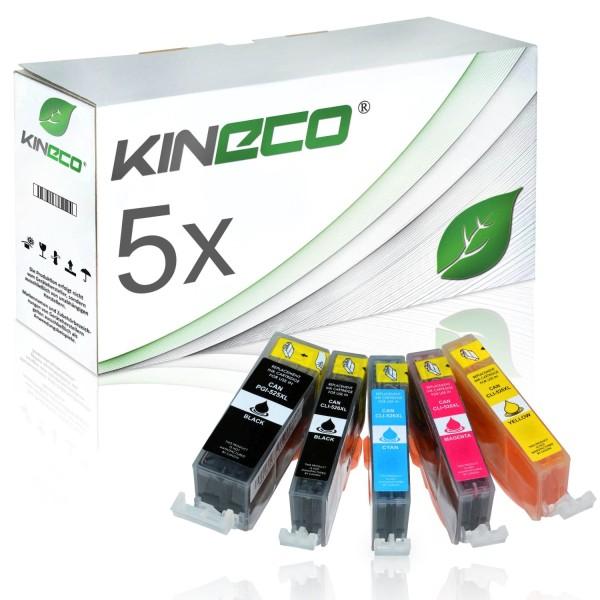 5 Tintenpatronen kompatibel zu Canon PGI-525 CLI-526 XL