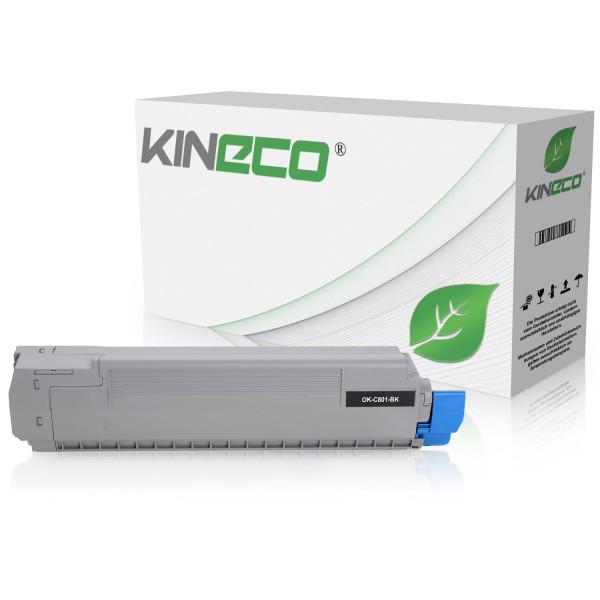 Toner kompatibel zu OKI C801 C821 44643004 XL Schwarz