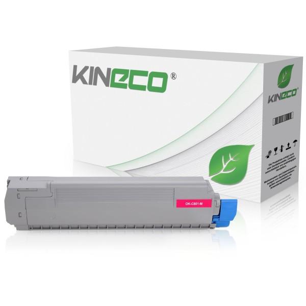 Toner kompatibel zu OKI C801 C821 44643002 XL Magenta