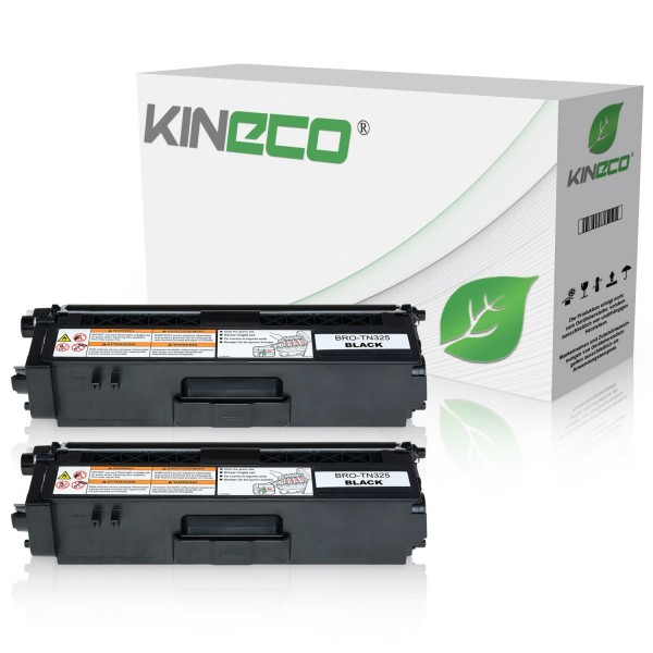 2 Toner kompatibel zu Brother TN-325BK XL Schwarz