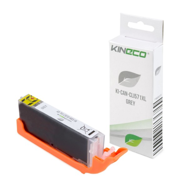 Tintenpatrone kompatibel zu Canon CLI-571GYXL 0335C001 XL Grau
