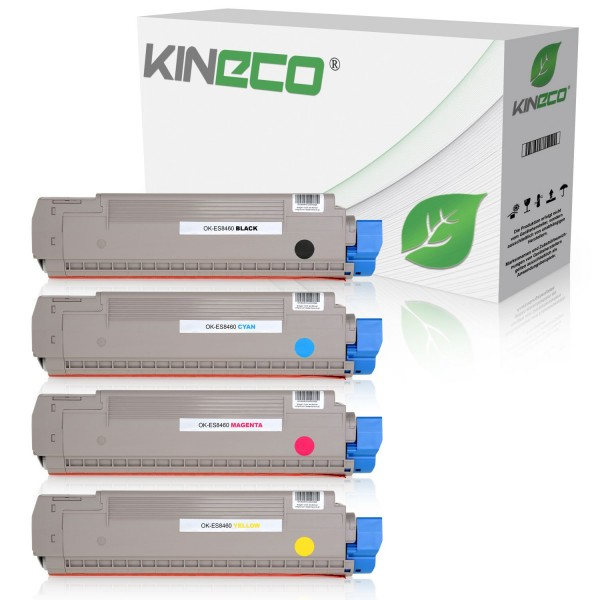 4 Toner kompatibel zu OKI ES8460 XL