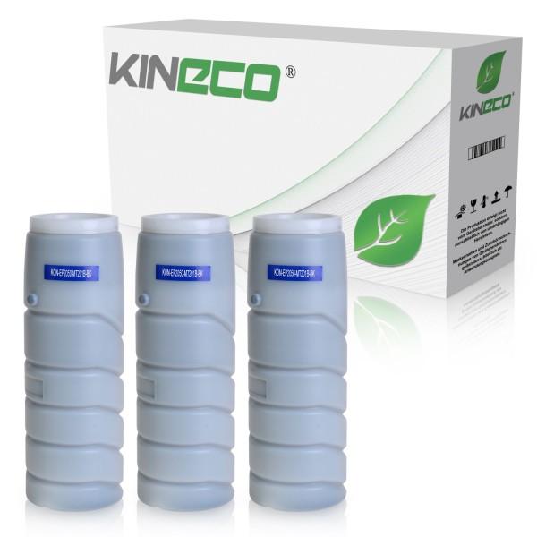 3 Toner kompatibel zu Konica 201B 8932-312 XL Schwarz