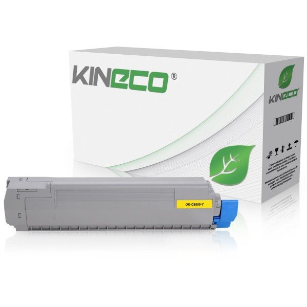 Toner kompatibel zu OKI C8600 C8800 43487709 XL Yellow
