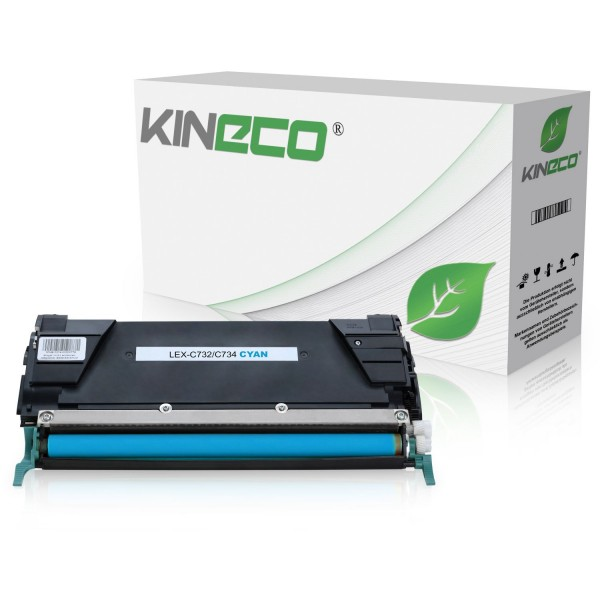 Toner kompatibel zu Lexmark C732 C734 C734A2CG XL Cyan