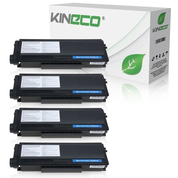 4 Toner kompatibel zu Brother TN-3280 XL Schwarz