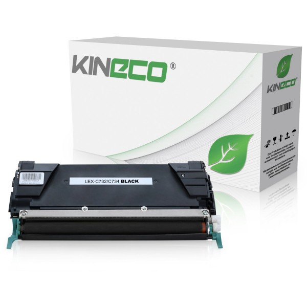 Toner kompatibel zu Lexmark C732 C734 C734A2KG XL Schwarz