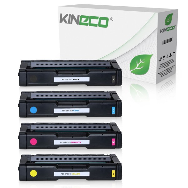 4 Toner kompatibel zu Ricoh SPC-231 SPC-310 XL
