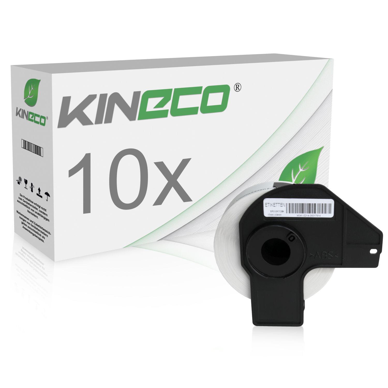 10x Etiketten kompatibel zu Brother P-Touch DK11204 17x54mm