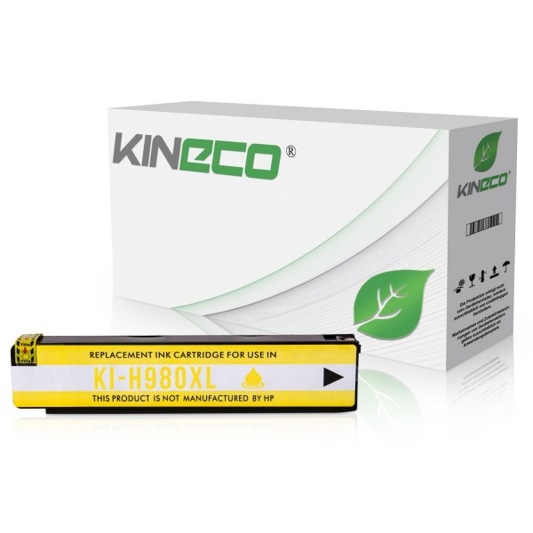 Tintenpatrone kompatibel zu HP 980 D8J09A XL Yellow
