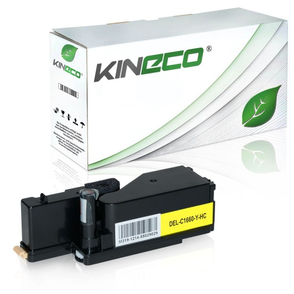 Toner kompatibel zu Dell C1660 XY7N4 593-11131 XL Yellow