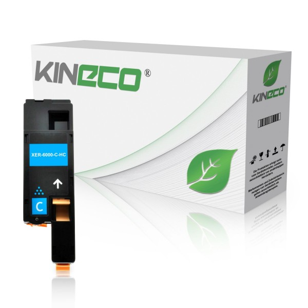 Toner kompatibel zu Xerox Phaser 6000 106R01627 XL Cyan